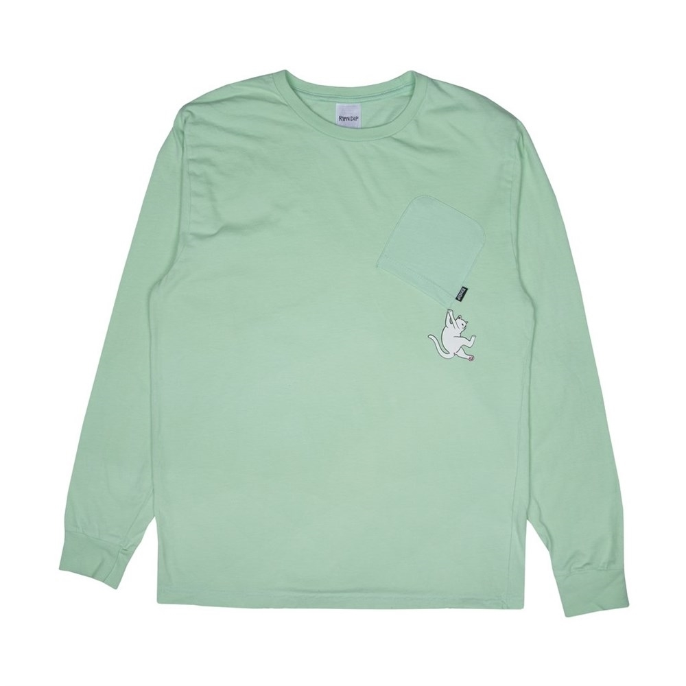 Лонгслив RIPNDIP Hang In There L/S mint