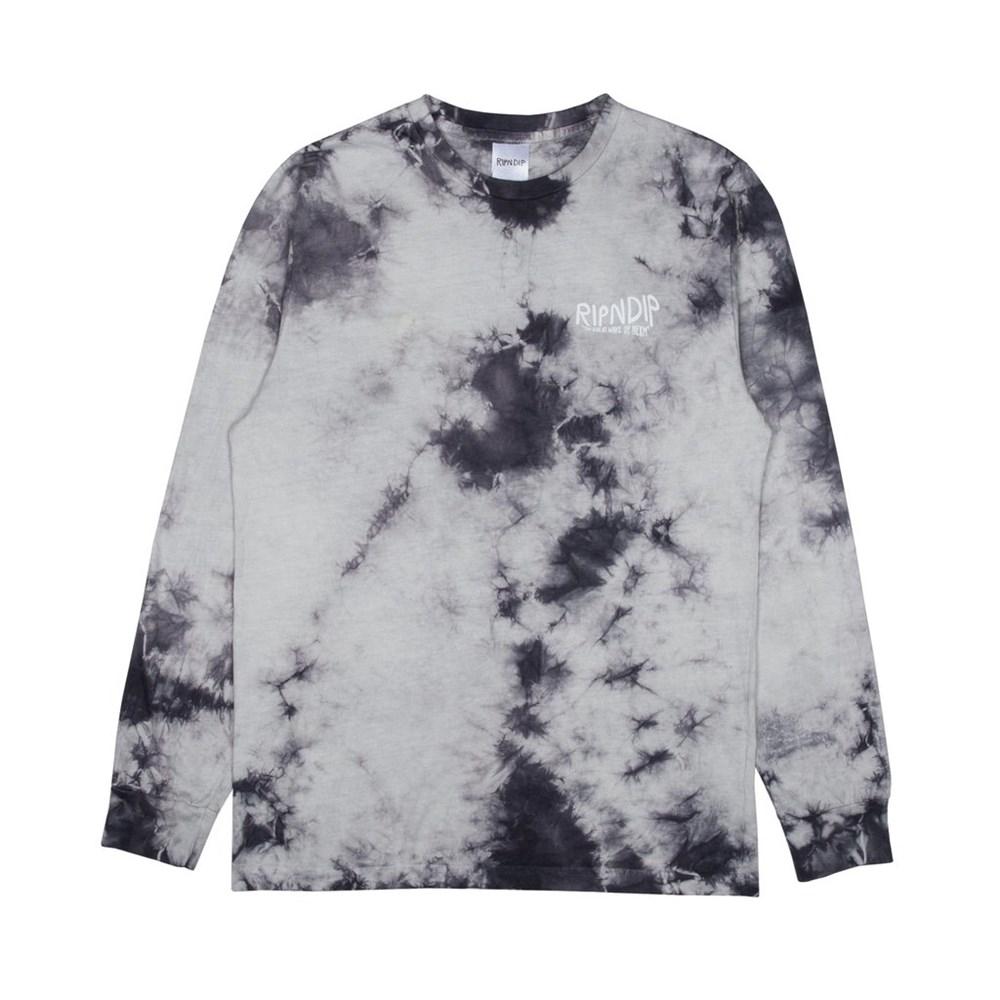 Лонгслив RIPNDIP Great Wave L/S Grey Tie Dye