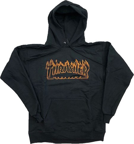 Thrasher Свитшот RICHTER HOOD BLACK