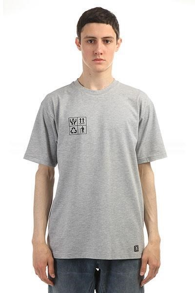 Юнион Футболка Recycle, цвет серый, 100% хлопок