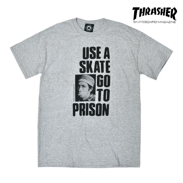 Футболка THRASHER Use a skate go to prsion grey