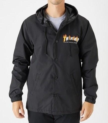 Thrasher Куртка FLAME MAG COACH JACKET Black