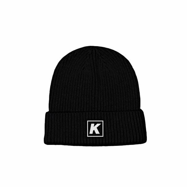 """Шапка КУЛЬТУРА """"logo K"""", черный"""