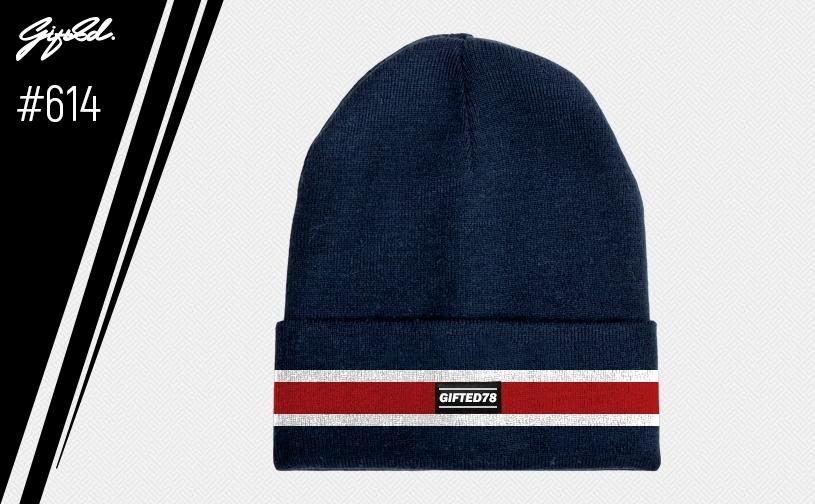 """Шапка """"GIFTED"""" knitfleece17/614 темно-синий"""