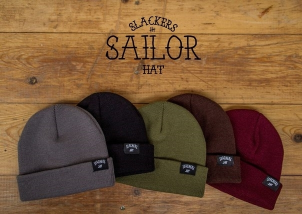 Шапка SLACKERS sailor hat. Серая