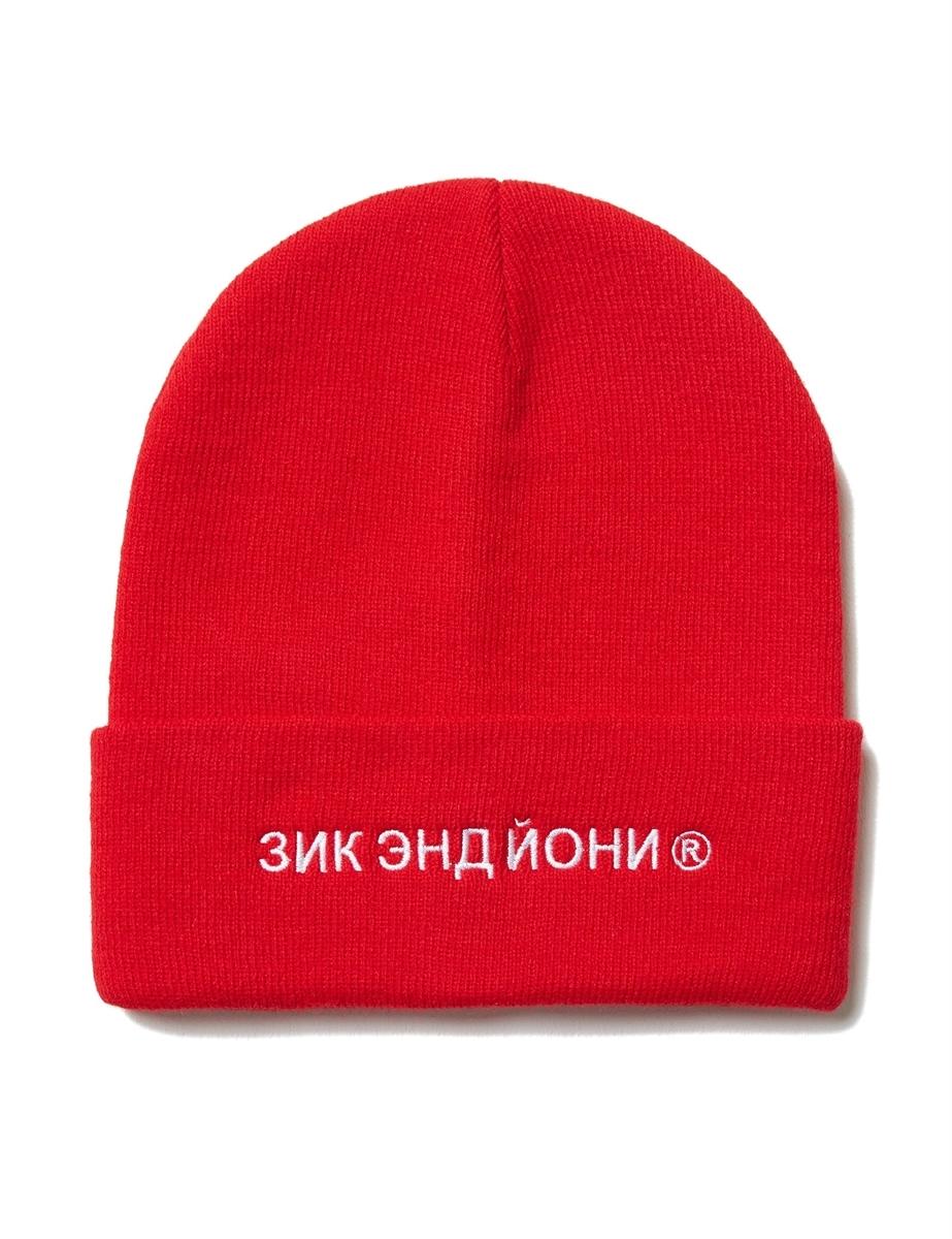 Шапка ZIQ & YONI RUS AW18 красная (ONE SIZE)