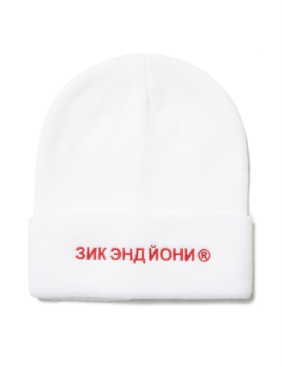 Шапка ZIQ & YONI RUS AW18 белая (ONE SIZE)