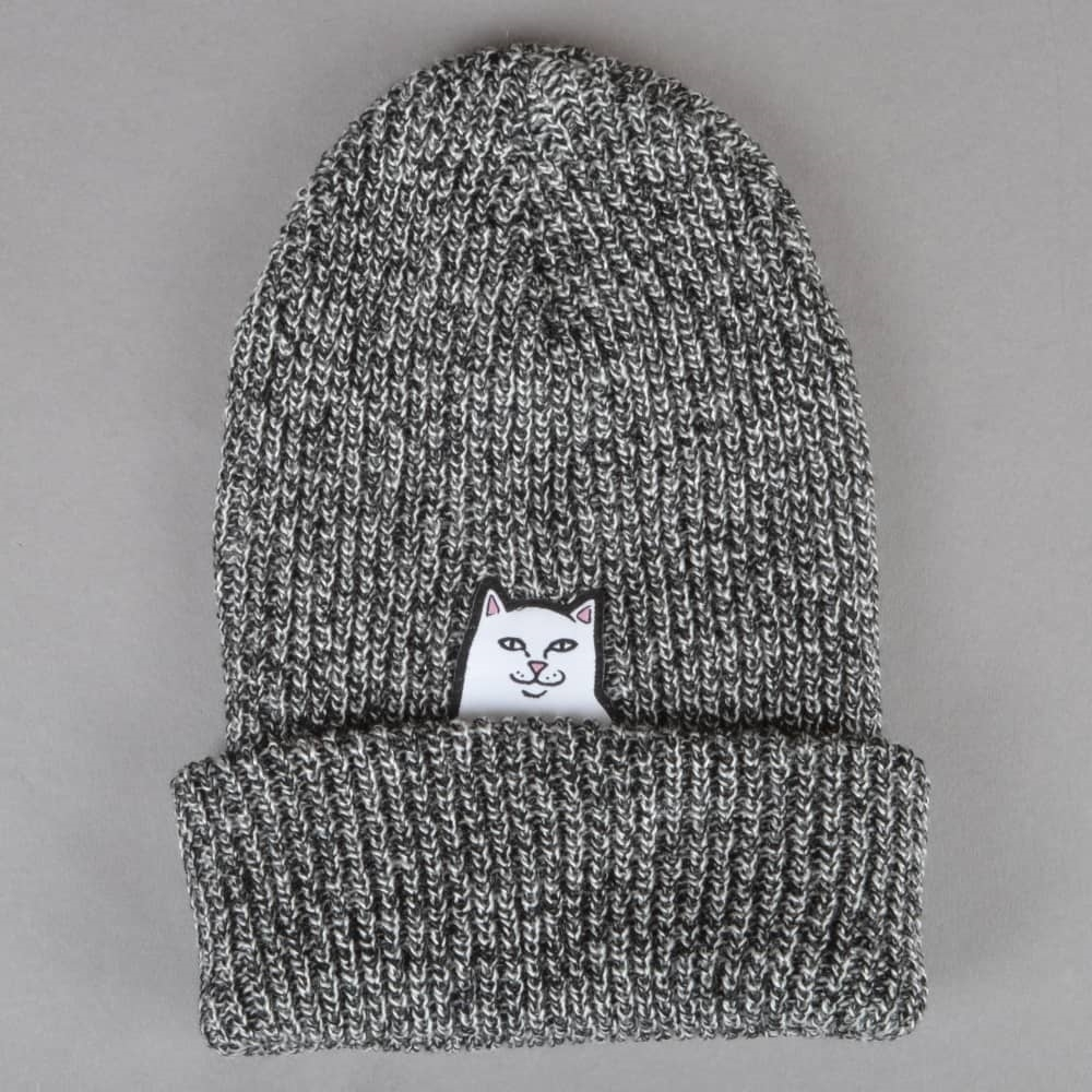 RIPNDIP Шапка Lord Nermal Knit Beanie Gray Speckled