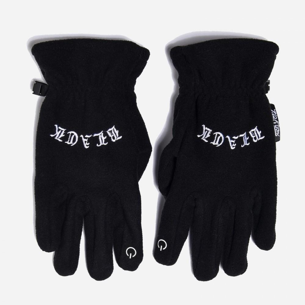 Перчатки ZIQ & YONI Black LOGO AW17 черные