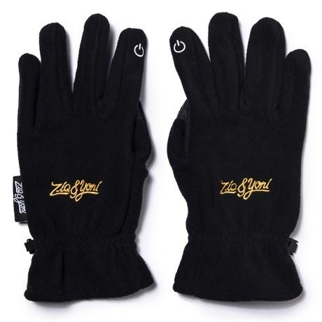 Перчатки ZIQ&YONI LOGO AW17 черные