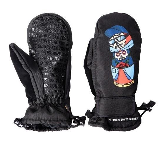 Варежки BonesGloves Neste doll black