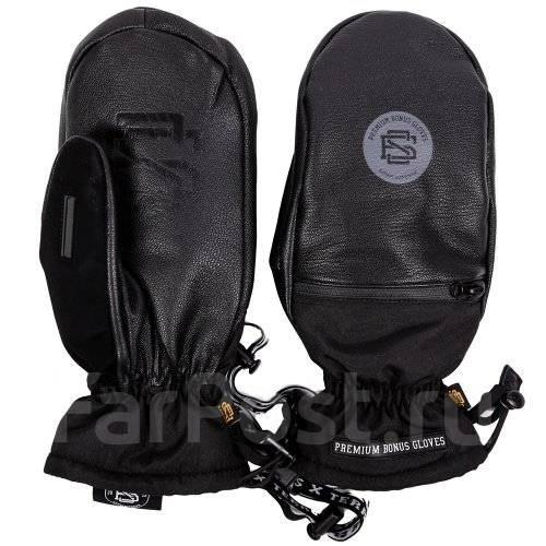 Варежки BonesGloves black leather S/M