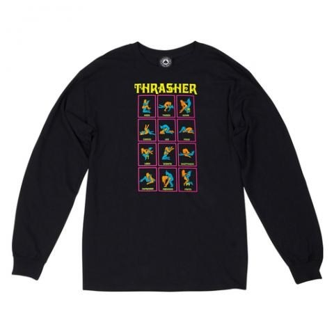 Thrasher лонгслив BLACK LIGHT L/S black