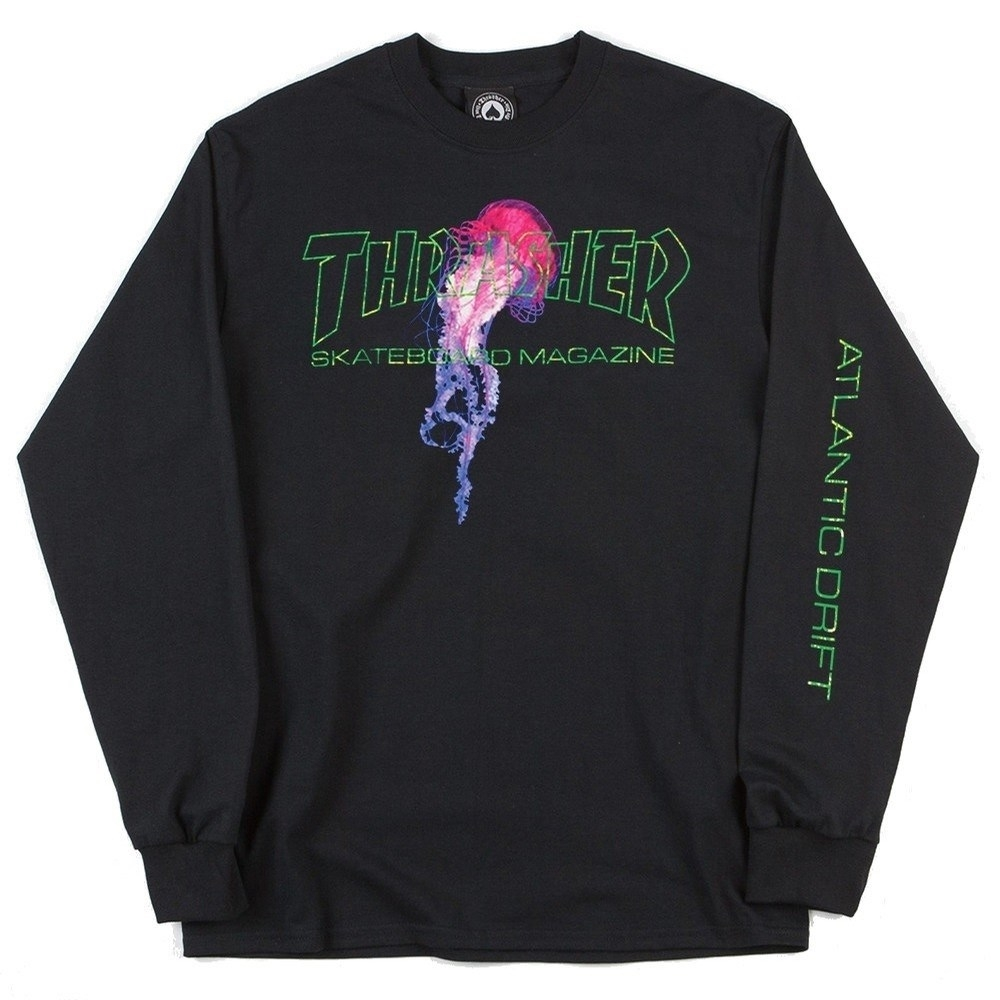Thrasher Лонгслив ATLANTIC DRIFT L/S Black