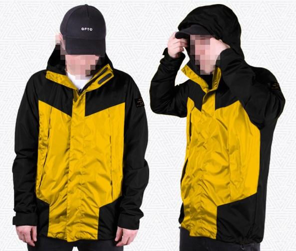 """Куртка """"GIFTED"""" SS18/106 черно-желтый"""