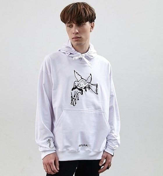 Волчок Худи ПТИЦА (Кошкош) (без начёса) белый