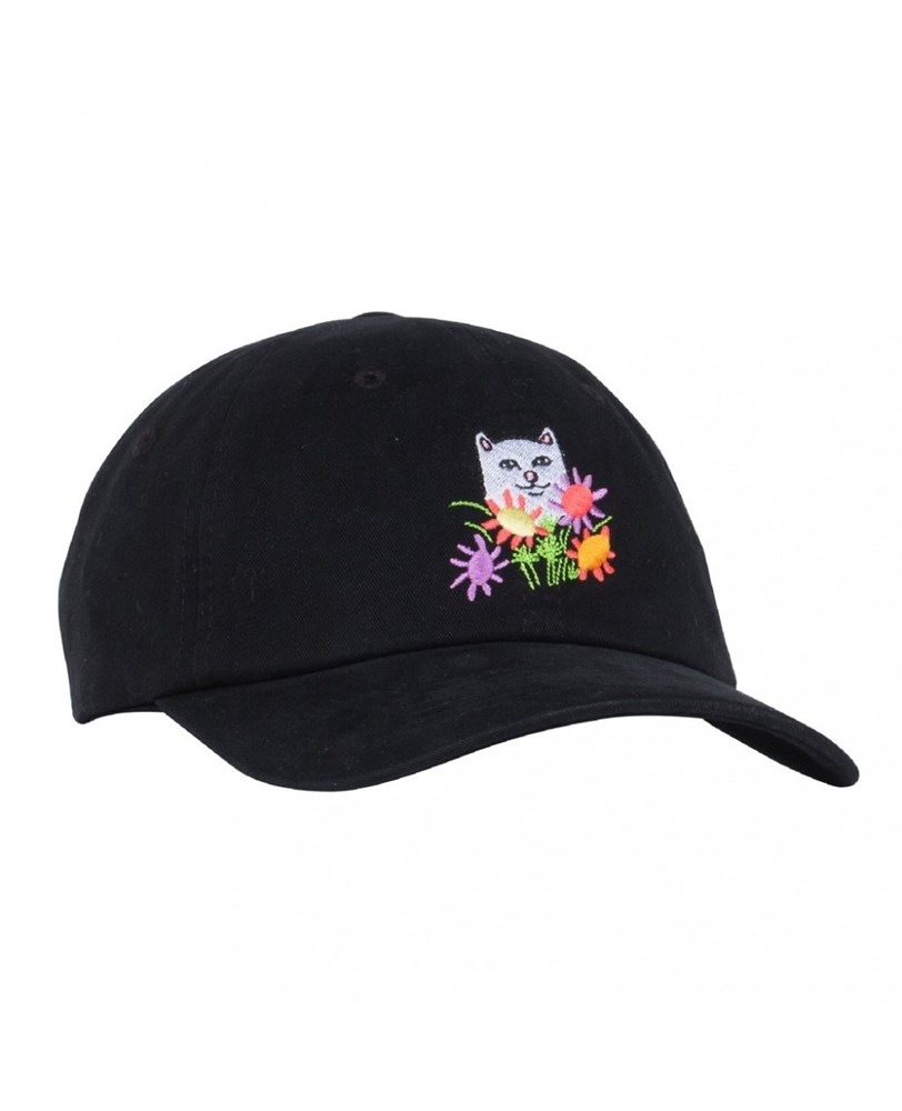 RIPNDIP Кепка Flowers For Bae Dad Hat Black