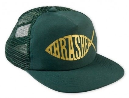 Бейсболка THRASHER THRASHER FISH MESH SNAPBACK (GRN)