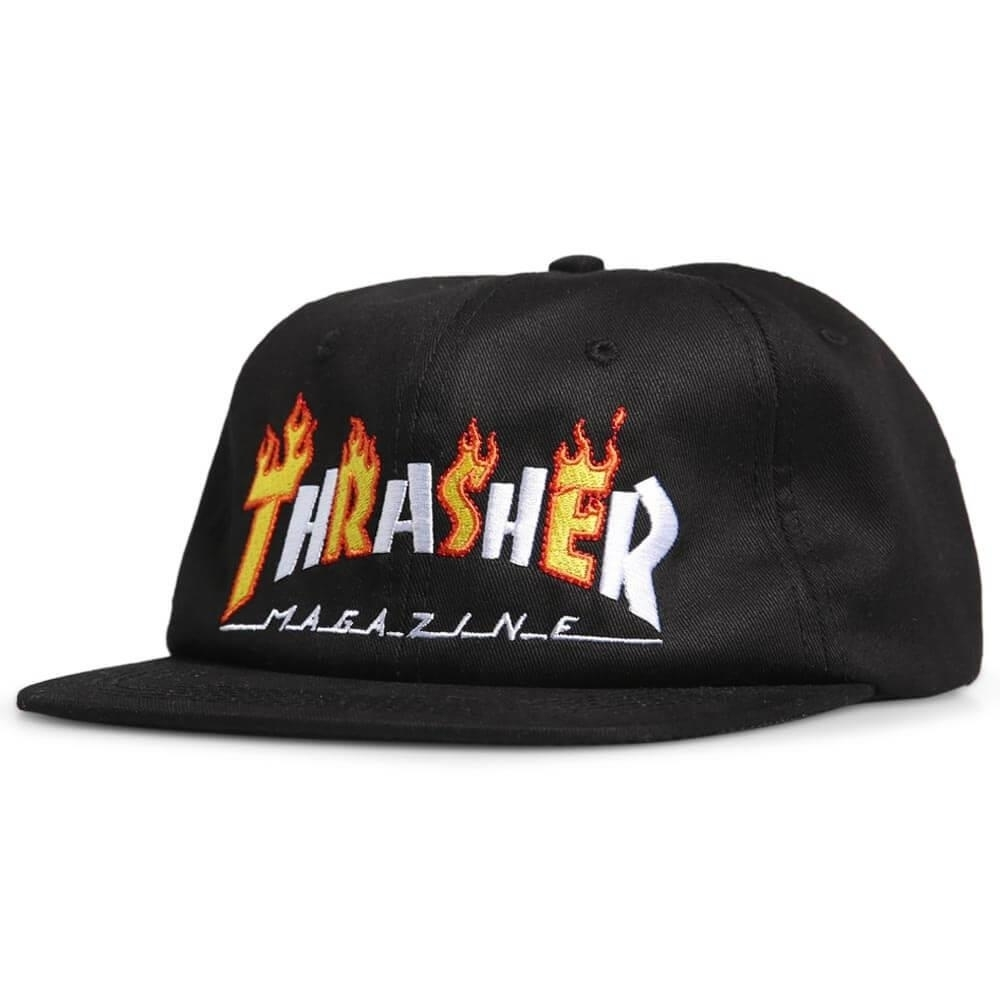 Thrasher Кепка FLAME MAG SNAPBACK Black