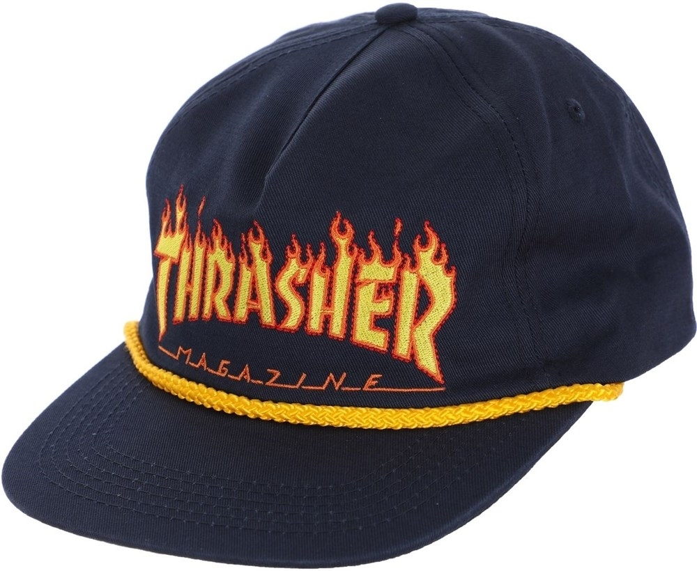 Thrasher кепка FLAME ROPE SNAPBACK