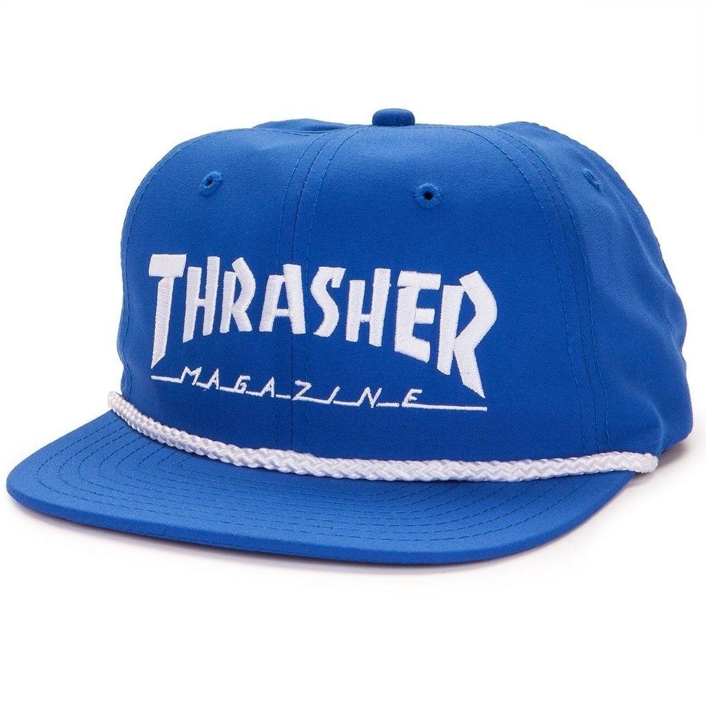 Бейсболка THRASHER LOGO ROPE SNAPBACK (BLU/WHT)