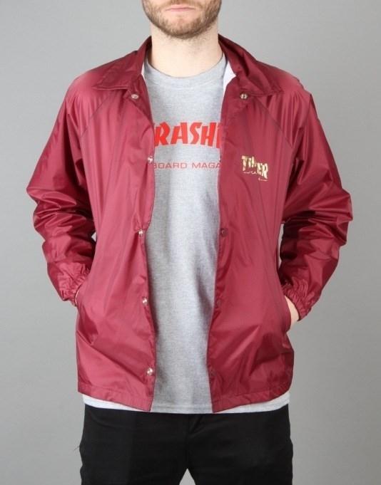 Куртка THRASHER PENTAGRAM COACH JACKET maroon