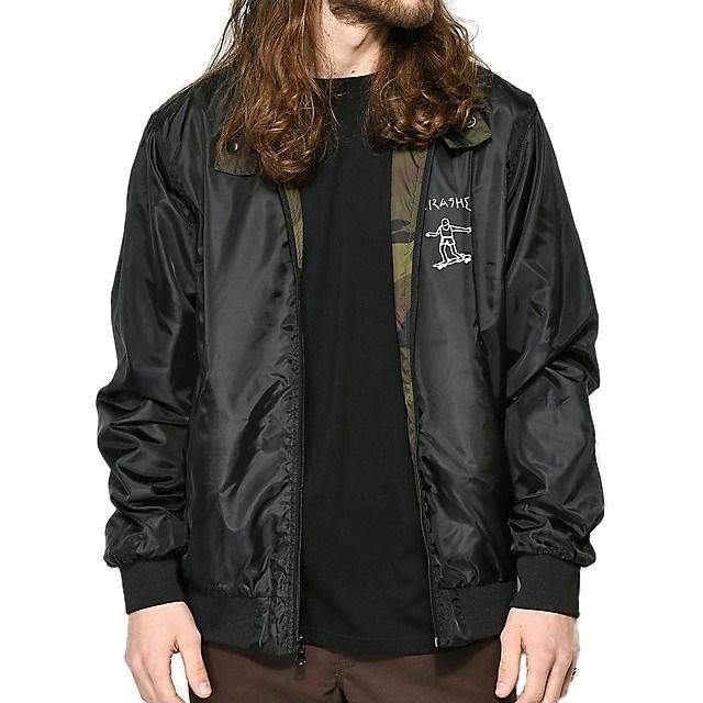 Thrasher Куртка GONZ REVERSIBLE COACH JACKET Black/Camo