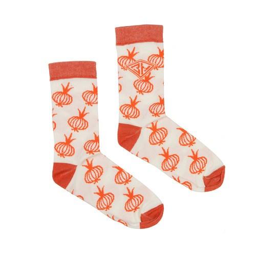 Носки ЗАПОРОЖЕЦ Лук женские (Белый/Оранжевый, O/S)