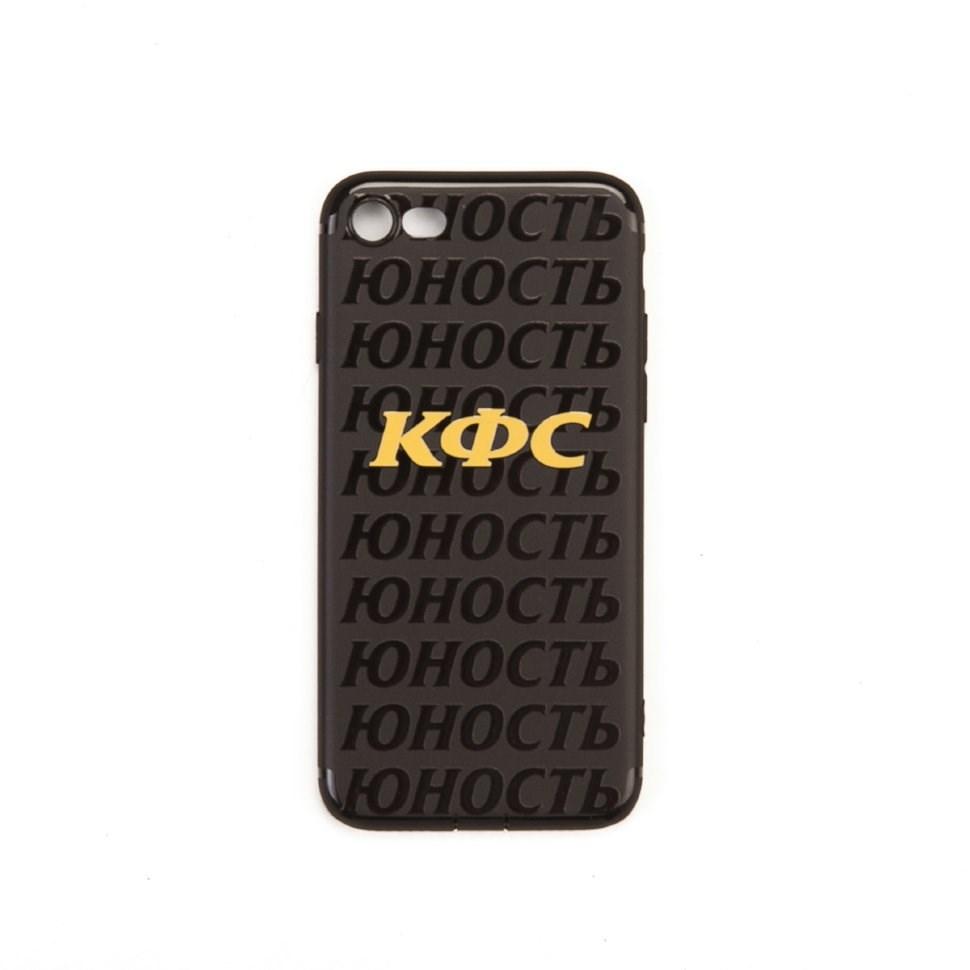 Юность Чехол для iPhone «КФС х Юность» (Черный, Силикон, 7/8) (арт. YCC0396.003.2341)