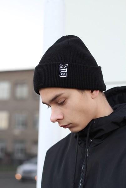 Blk Crown Шапка Vertical logo (black)