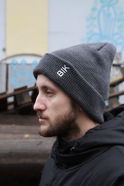 Blk Crown Шапка Vertical logo (dark grey)
