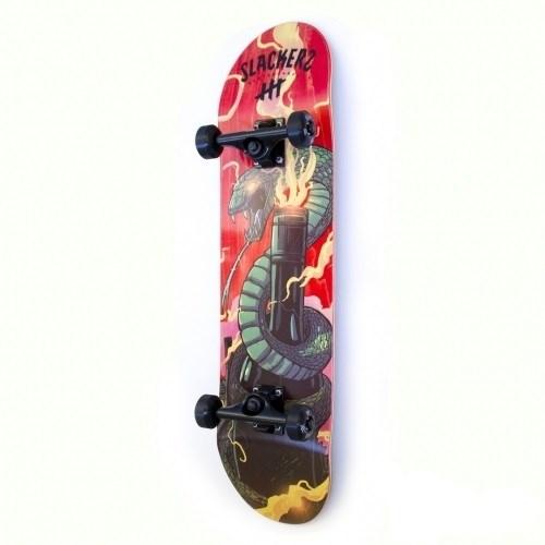 """Скейтборд SLACKERS """"змея и бутылка"""" 8,25х32"""" шейп№8, дип конкейв"""