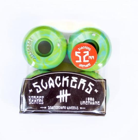 "Колеса SLACKERS street series ""stoner"" лайм и синий, 100А/54мм"