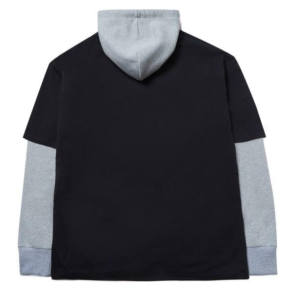 Толстовка с футболкой ZIQ & YONI x КИНО черная/серая - фото 10168