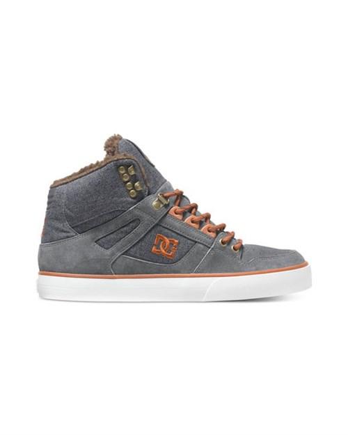 Обувь DC Spartan grey dark red - фото 10205