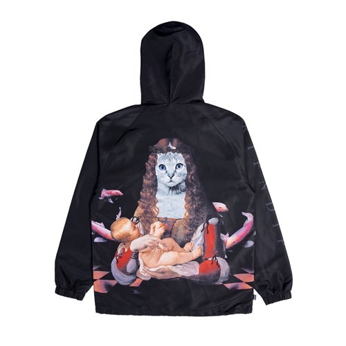 Куртка Mother RIPNDIP Fish Baby Hooded Coach Jacket black - фото 10227
