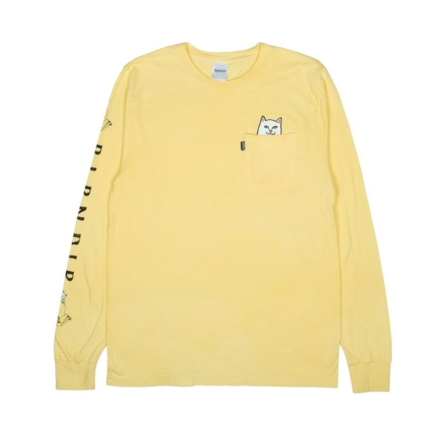 Лонгслив RIPNDIP Lord Nermal L/S Banana - фото 10263