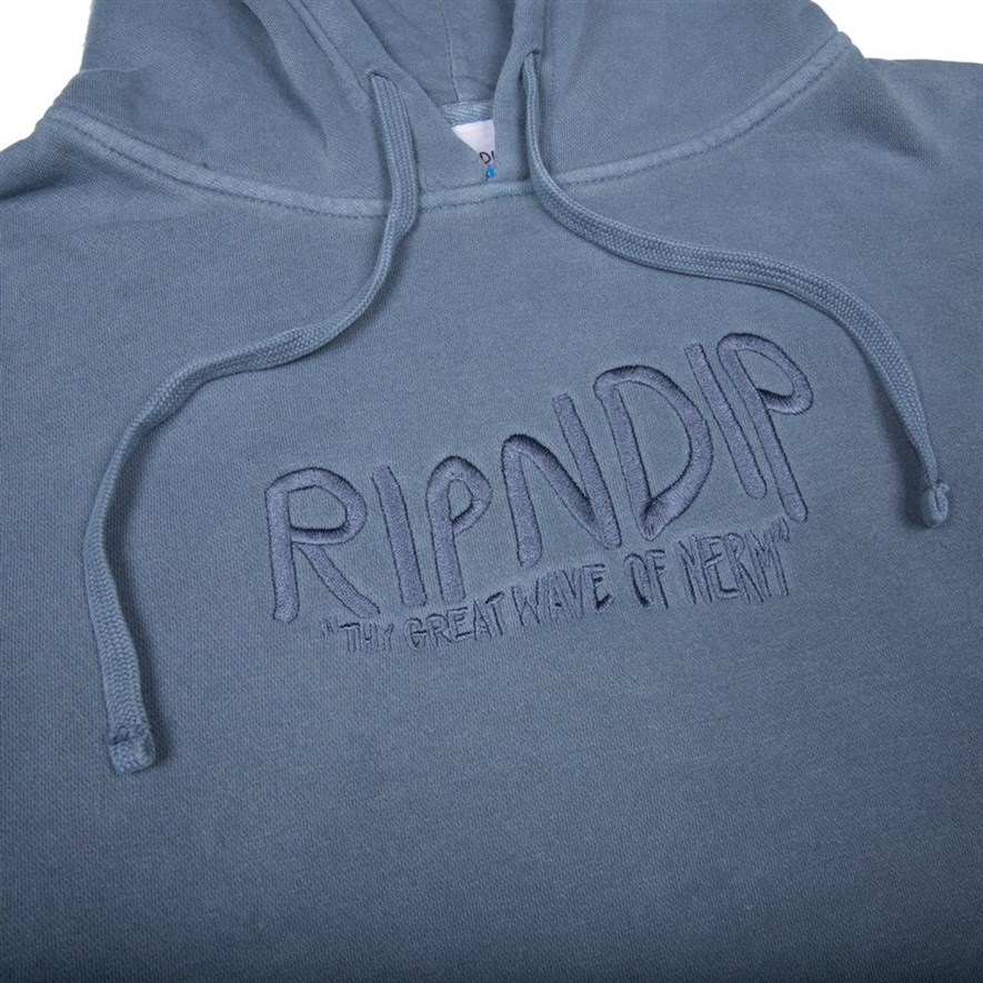 Толстовка RIPNDIP Great Wave Of Nerm Pullover Sweater baby blue - фото 10273