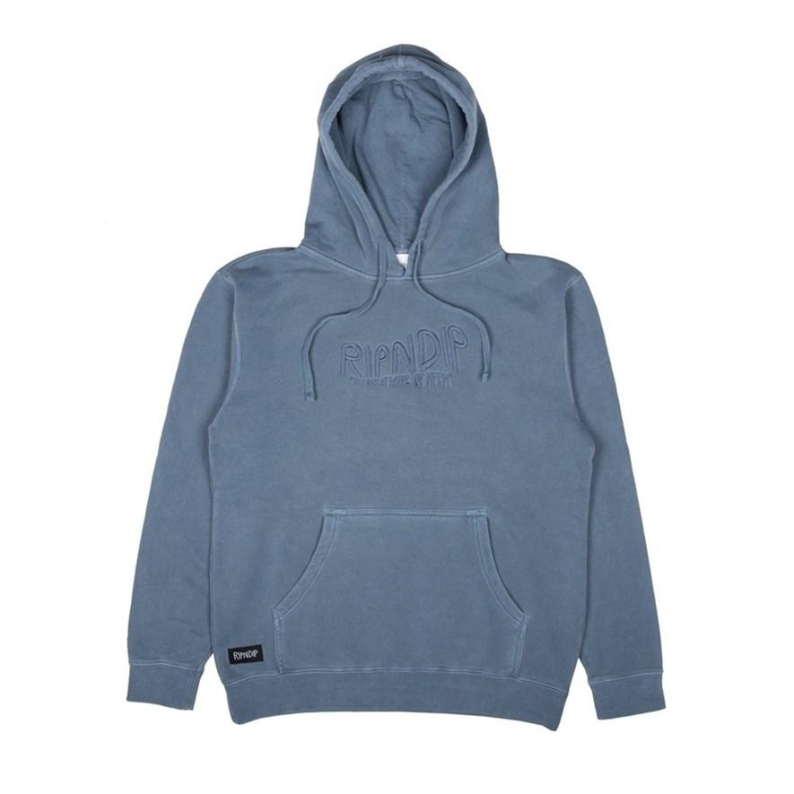 Толстовка RIPNDIP Great Wave Of Nerm Pullover Sweater baby blue - фото 10274