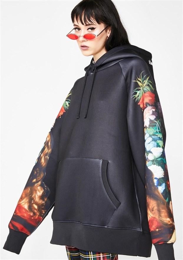 Толстовка RIPNDIP Bouquet Pullover Sweater black - фото 10292