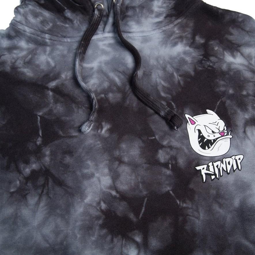 Толстовка RIPNDIP Nerm Gearhead Pullover Sweater  Black Tie Dye - фото 10294