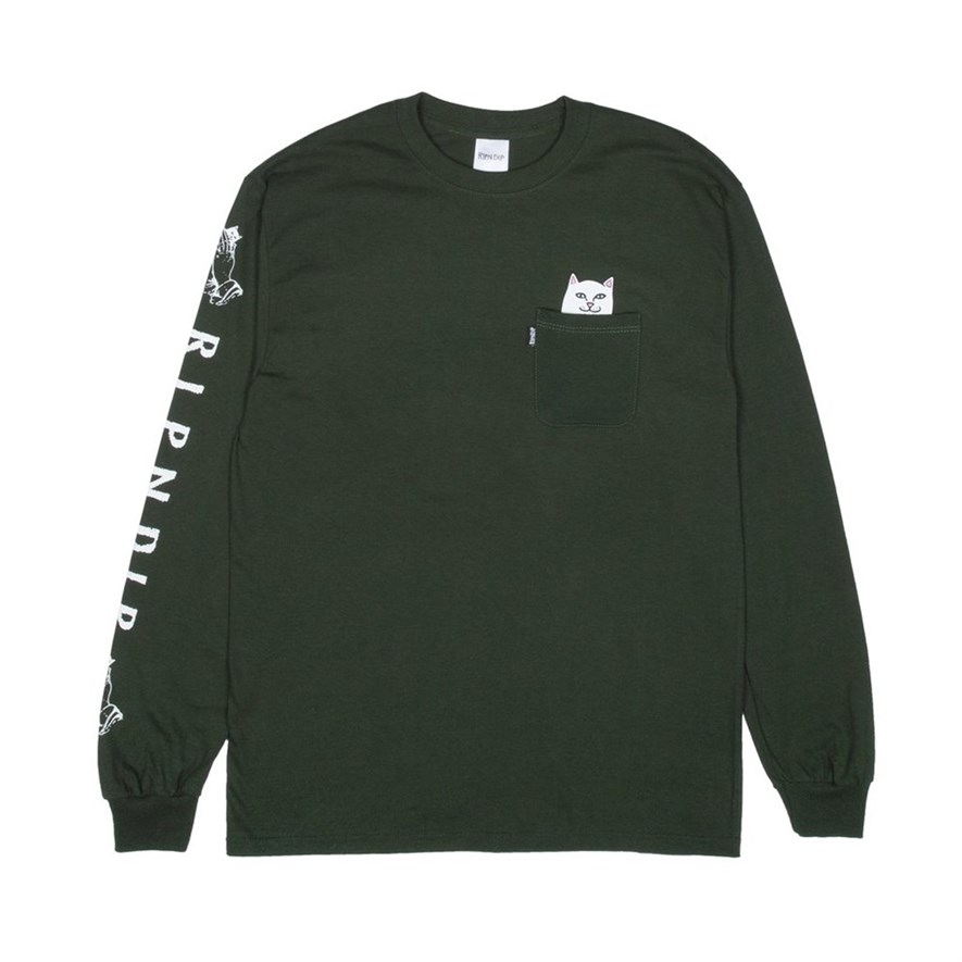 Лонгслив RIPNDIP Lord Nermal L/S Hunter Green - фото 10298