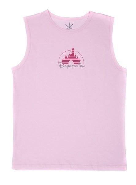 Волчок Майка DEPRESSION розовый - фото 11955
