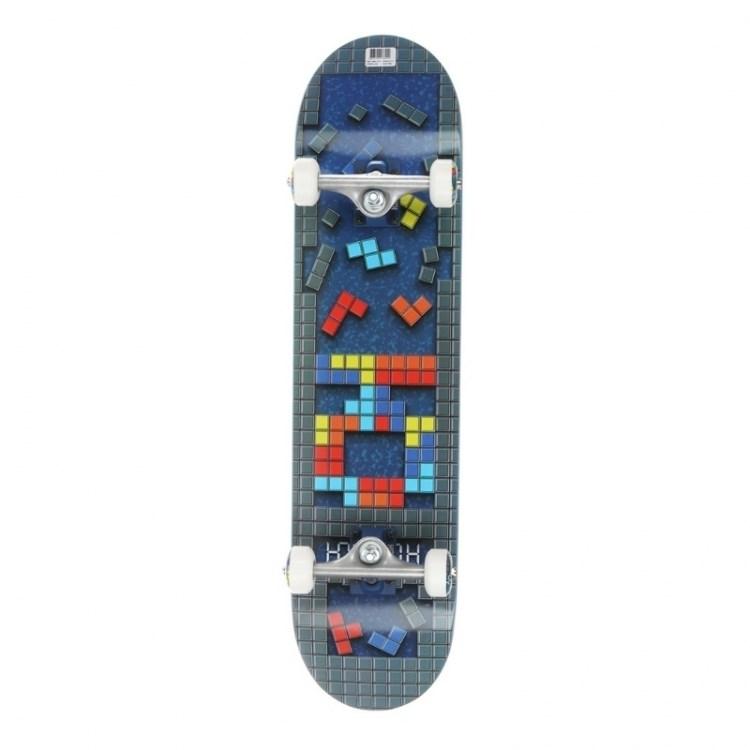 """Комплект Скейт """"Tetris"""" 7,6x31,25 Medium, Колёса 53mm/101a Подвески 129, Подшипники ABEC 7 - фото 12875"""
