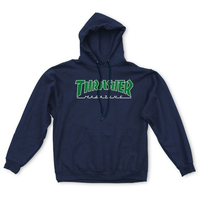 Thrasher толстовка OUTLINED HOOD BLACK - фото 13856