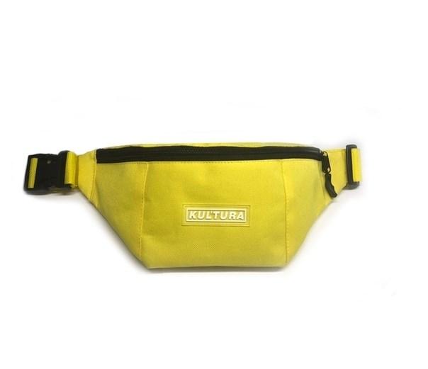 """Поясная сумка КУЛЬТУРА """"logo"""", желтый - фото 15442"""