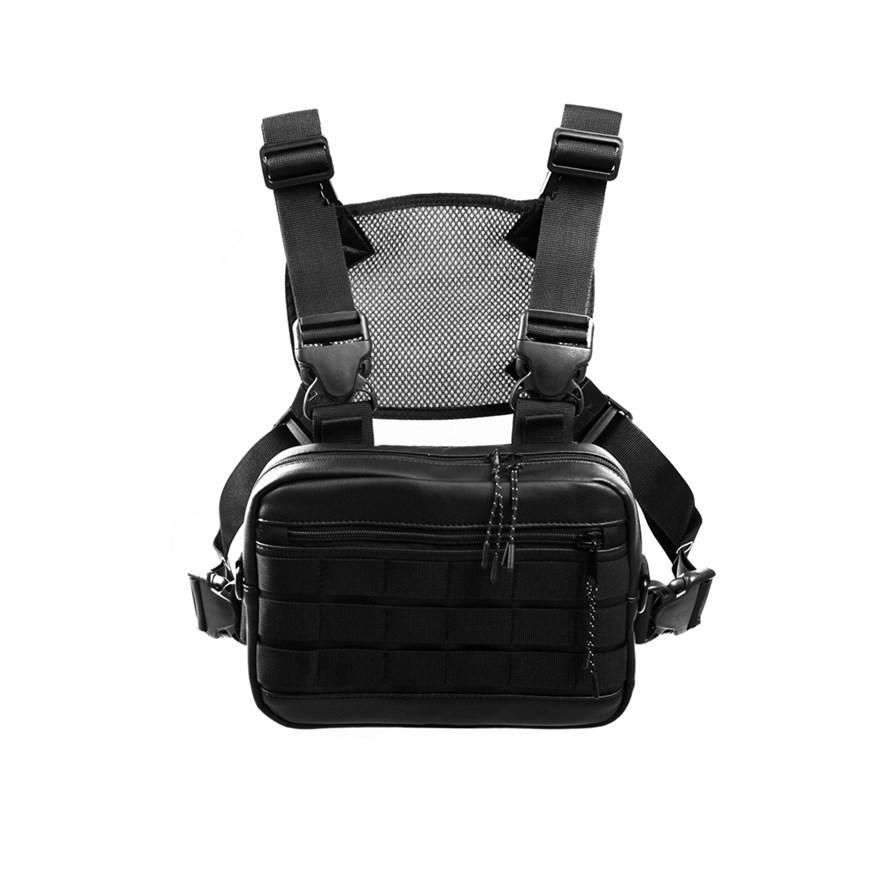Нагрудная сумка ТАЙНА экокожа черный - фото 17864