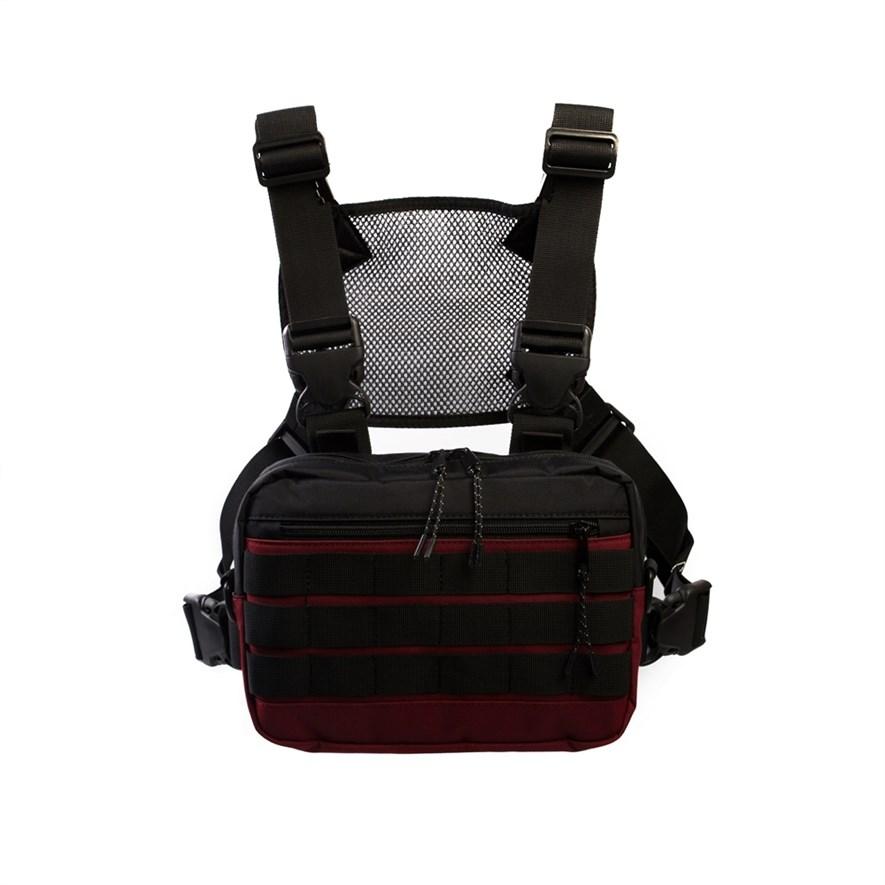 Нагрудная сумка ТАЙНА таслан бордо/черная - фото 17869