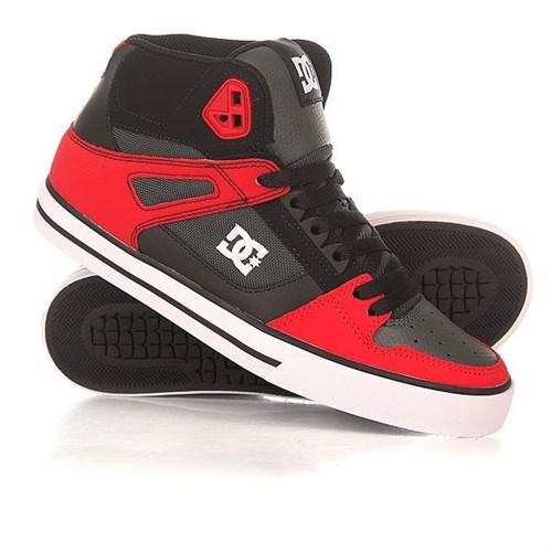 Обувь DC Spartan grey dark red - фото 5142