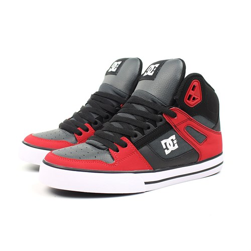 Обувь DC Spartan grey dark red - фото 5143